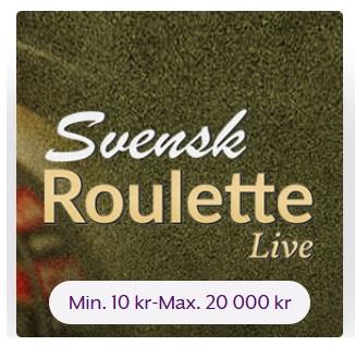 Spela Svensk Roulette Live på Frank & Fred Casino!