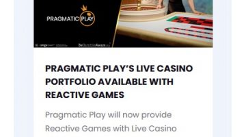 Pragmatic Play Live Casino lanseras hos Reactive Games